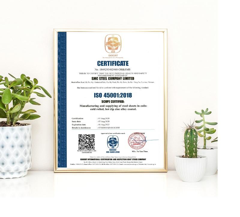 Giấy chứng nhận ISO 45001
