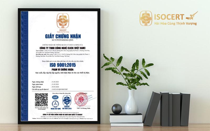 Chứng nhận ISO 9001 hình ảnh mẫu mới 2015