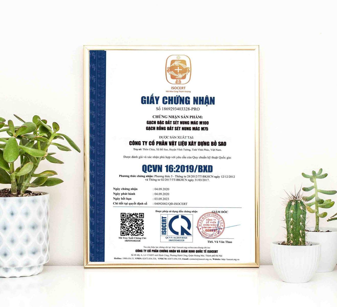 giấy chứng nhận hợp quy