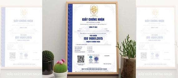 Cấp giấy chứng nhận ISO 14001 được cấp phép